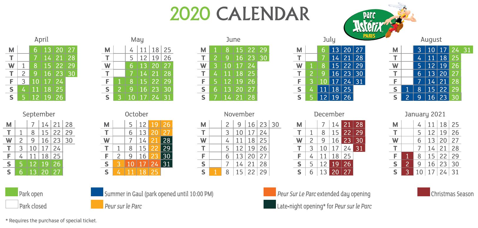 parc-asterix-calendar-2020
