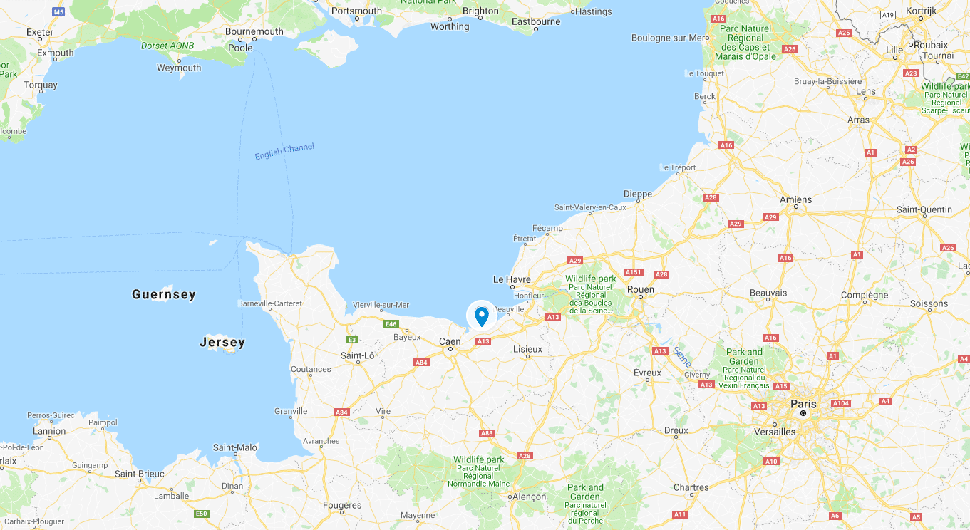 Cabourg map
